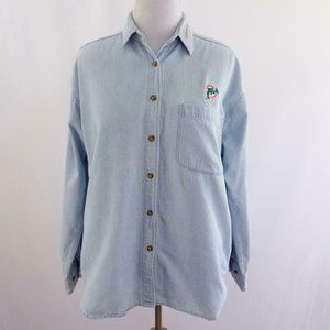 Miami Dolphins Embroidered Denim Shirt